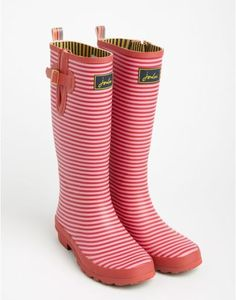 Red Stripe Welly