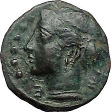 HIMERA in SICILY 415BC NYMPH & Success Wreath Genuine Ancient Greek Coin i55391