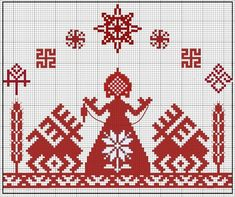 Polish Embroidery, Russian Embroidery, Ribbon Embroidery, Embroidery Patterns, Stitch Patterns, Crochet Motifs, Filet Crochet, Viking Art, Creative Embroidery