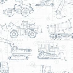 223 best blueprint images drawings drawings of cars motorcycles Jaguar XK SS york wallcovering cool kids construction blueprint wallpaper ks23 4 5 construction wallpaper kids