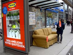 Ikea's Bus stop makeover