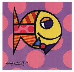 Boys - Striped Fish by Romero Britto art print