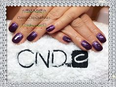 CND Shellac Rock Royalty and Lecenté Purple Holographic Glitter fade. By Claire's Creative Nails, Northampton. Call or text: 07752 397245 to book your appointment. #ibx #shellac #northampton #NailSalon #LecentéGlitter #GlitterNails #NailRepair #cnd