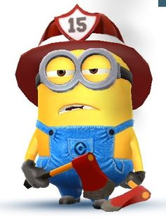 Despicable Me - Jorge is a two-eyed minion that is usually seen dressed-up as a fireman.
