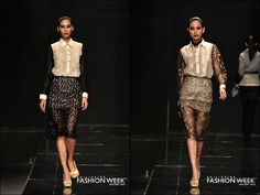 Veejay Floresca Holiday 2012 Philippine Fashion Week Modern version of softhearted Filipina has come into our lives. Modern Filipiniana Dress, Lace Skirt, Sequin Skirt, Philippines Fashion, Barong, Grad Dresses, Formal Wear, Fashion Outfits, Fashion Trends
