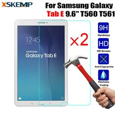 "2Pcs/Lot Tempered Glass Screen Protector For Samsung Galaxy Tab E 9.6"" SM-T560 / T561 Tablet Anti-scratch Protective Film Guard //Price: $6.77//     #electonics"