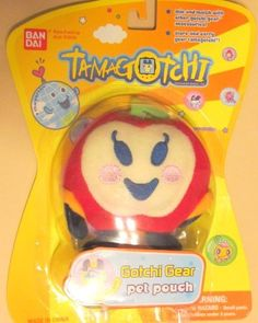 """Gotchi Gear: Pet Pouch -  Ringotchi & Lanyard by Bandai. $3.50. From the Manufacturer                Kid's can use the """"Gotchi Gear"""" lanyard with plush included to carry their favorite Tamagotchi Connection toy. Each lanyard features a favorite Tamagotchi character plush that includes a pocket to store and carry the Tamagotchi Connection toy. With a hook closure, the plush can be attached to the lanyard and worn around the neck. Notes: This item is only available to ship to..."""