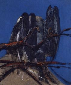 FRANCIS BACON    Owls  1956  oil on canvas  60.96 x 50.8 cm    Private collection  Courtesy Dr Rebecca Daniels        jpg (590×712)
