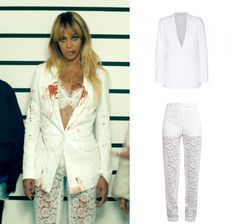 Beyoncé Was Wearing Givenchy Lace Cotton Twill Blazer & Dentelle Lace Trousers