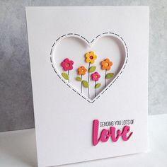 #Repost @iminhaven with @repostapp. ・・・ #simonsaysstamp #hearts #miniflowers #love love these little flowers...