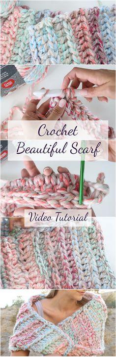 Crochet Beautiful Scarf Video Tutorial