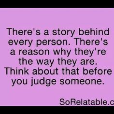 BETTER YET-NEVER JUDGE ANYONE EVER! #judge #silence