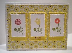 Stampin Up, Card, Summer Smooches DSP, Bright Blossoms stamp set, distressed edges