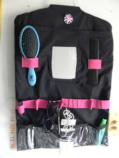 Some thing new to pack in your dance bag. A Hanging Vanity that will hang on a Dream Duffel, Rack-n-Roll, or clothes rack.  It is great for dance recitals, dance competitions, or cheer competitions.  by FunLifewithAnna on etsy