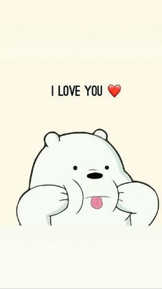 I Love You We Bare Bears Wallpapers Ice Bear We Bare with regard to We Bare Bears Wallpaper Quotes - Find your Favorite Wallpapers! Cute Panda Wallpaper, Cartoon Wallpaper Iphone, Cute Disney Wallpaper, Kawaii Wallpaper, Cute Wallpaper Backgrounds, Animal Wallpaper, Colorful Wallpaper, Wallpaper Quotes, Wallpaper Wallpapers