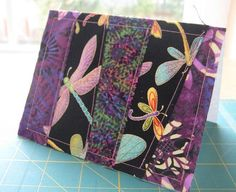 hand crafted card: Patchwork Fabric Greeting Cards - Quilting Tutorials and Fabric Creations - Quilting in the Rain . Fabric Cards, Fabric Postcards, Paper Cards, Patchwork Cards, Patchwork Fabric, Patchwork Ideas, Scrap Fabric, Diy Cards And Envelopes, Cards Diy