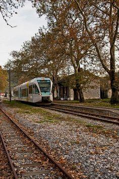 Railway Station of Parthenio, Arcadia, Greece Arcadia Greece, Corinth Canal, Light Rail, Acropolis, Ancient Greece, Capital City, Public Transport, Continents, Europe