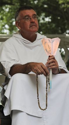 A Dominican and the Rosary  --  The Provincial of the Province of England prays the Rosary with our Pilgrimage group in Lourdes. The Rosary is a particularly Dominican devotion, preached and propagated by the Order over the centuries, to focus the mind on Christ and the mysteries of salvation.