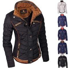 Damen Steppjacke Übergangsjacke Mit Kapuze Damen Mode Jacken