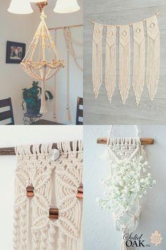 Diy Home Crafts, Crafts To Do, Diy Craft Projects, Crochet Baby Blanket Beginner, Macrame Wall Hanging Diy, Seashell Crafts, Macrame Patterns, Solid Oak, Scissors