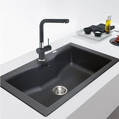 The very latest in stylish kitchen sink mixers and brand new to our shelves.  Introducing the Active Plus Onyx sink mixer, our tap of the week! Modern looks, with a black matte finish. Combined 12-year guarantee on body & cartridge.