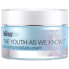 Bliss The Youth As We Know It Moisturizer (984.200 IDR) ❤ liked on Polyvore featuring beauty products, skincare, face care, face moisturizers, no color, anti aging face moisturizer and face moisturizer