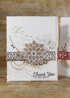 Create beautiful handmade cards using the Flourishing Phrases stamp set.
