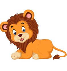 Cute cartoon lion vector image on VectorStock Animals For Kids, Baby Animals, Cute Animals, Cartoon Lion, Cute Cartoon, Lama Animal, Lion Vector, Watercolor Lion, Jigsaw Puzzles For Kids