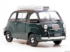 Fiat 600 multipla taxi 1956 1965 - OMGosh!  There's an itty bitty taxi too! @Alexander Rostof