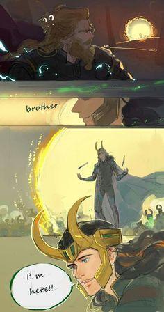 Loki deserved it. Thor deserved it. The audience deserved it Marvel Avengers, Marvel Comics, Hero Marvel, Memes Marvel, Marvel Funny, Loki Thor, Loki Laufeyson, Loki Fan Art, Marvel Fan Art