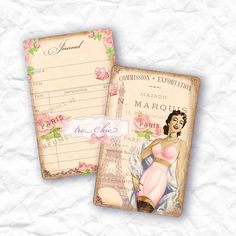 Shabby Chic French Inspired Vintage Library and by LeCharmedLife, $5.00