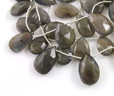 Natural Labradorite, Faceted Pear, AAA Quality Gemstones Appx. 8x11mm, 1 Strand (LAB/8x11/PEAR) by Beadspoint on Etsy