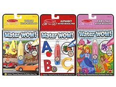 Kids' Paint With Water Kits - Melissa  Doug On The Go Water Wow Bundle Alphabet Vehicle Fairy Tale *** Check out the image by visiting the link.