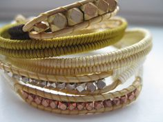Earth Herringbone Wrap Bracelet