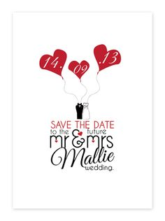 Mr & Mrs Wedding Save the Date Cards| Personalised Bride and Groom Wedding Save the Date Cards - Pink Frosting Party Shop