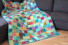 stitchydoo: Ein Jahr - Ein Quilt | Mein kunterbunter 365 Tage Quilt ist fertig! // Patchworkdecke // blanket