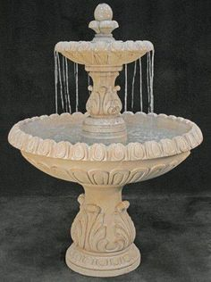 Landscaper Outlet offers Cast Stone Tier Fountains in a variety of styles and sizes. Tier fountains are a beautiful addition to any home or garden. Page 5 Garden Water Fountains, Stone Fountains, Water Garden, Outdoor Fountains, Fountain Garden, Fountain Ideas, Fountain Design, Outdoor Water Features, Tiered Garden