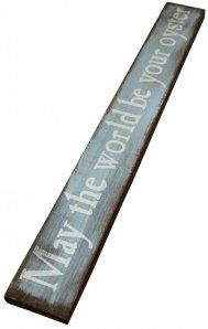 Gisela Graham May The World Be Your Oyster Wooden Plaque <3 perfect for spare room, nautical theme