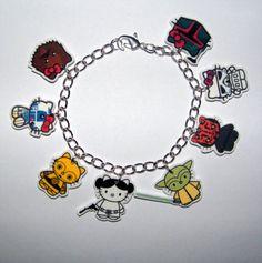 Hello Kitty/Star Wars charm bracelet