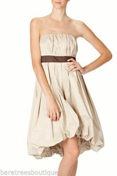 RYU Boutique Strapless gathered cocktail dress with large bow bubble Hem S M L