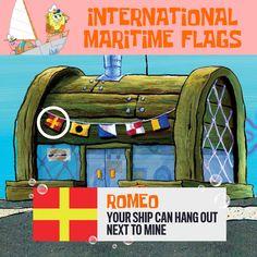 NickALive!: What the International Maritime Flags on the Krusty Krab Mean | SpongeBob SquarePants