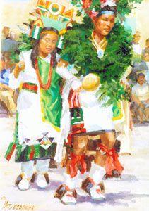 Northern Pueblo Feast day Dancers by Mike Desatnick kp