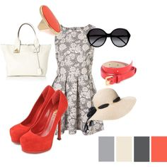 Coral and grey for summer!  I have an unhealthy addiction to coral