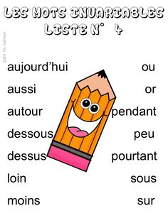 Quand t'es maicresse, tu cherches des listes de mots invariables (liste 4) Children, Blog, Plural Of Nouns, Spelling, Language, Vocabulary, Young Children, Boys, Kids