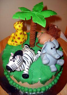 Jungle Baby Shower Cake by Cake Lover (Sam), via Flickr