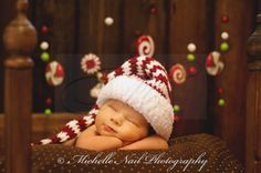 Newborn Photography Idea . . . Baby Photo for Christmas Holiday . . . Visions of Sugar Plums Danced in Their Heads -my sweet Waylon!