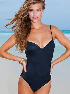 9646fd4171f Nina Halter One Piece Bathing Suit By Sauvage Swimsuit Shops, Black  Swimsuit, Monokini,