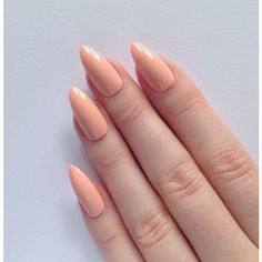 Pastel peach stiletto nails, Nail designs, Nail art, Nails, Stiletto... ($13) ❤ liked on Polyvore featuring beauty products, nail care, nail treatments and nails