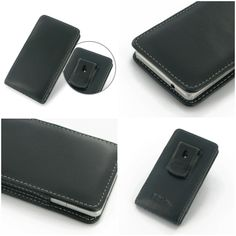 PDair Leather Case for Sony Xperia Z1 Compact D5503 - Vertical Pouch Type Belt Clip Included (Black)