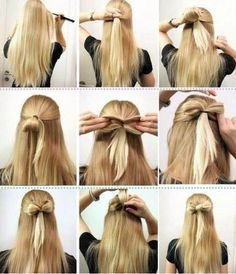 Is there any girl who like use headbands here? Of course, they are pretty and cute. But today, I'll show you some ways to make a lovely bow hairstyle with your hair in this. Diy Hairstyles, Pretty Hairstyles, Easy Hairstyle, Bow Hairstyle Tutorial, Church Hairstyles, Simple Hairstyles, Style Hairstyle, Creative Hairstyles, Stylish Hairstyles